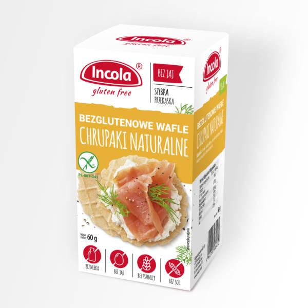Bezglutenowe chrupaki naturalne INCOLA
