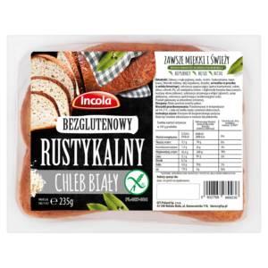 Bezglutenowy chleb rustykalny jasny INCOLA