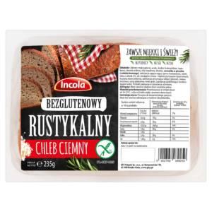Bezglutenowy chleb rustykalny z orzechami INCOLA