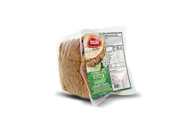 Bezglutenowy chleb Vitalfit ciemny z ziarnami INCOLA