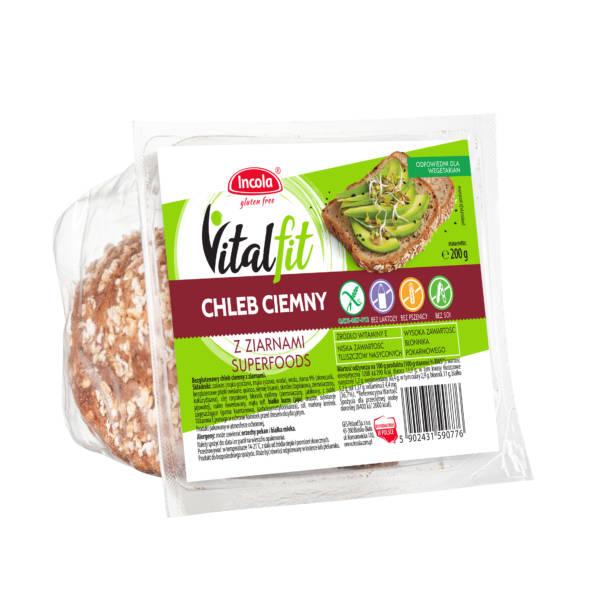 Chleb Vitalfit ciemny 200 g - INCOLA