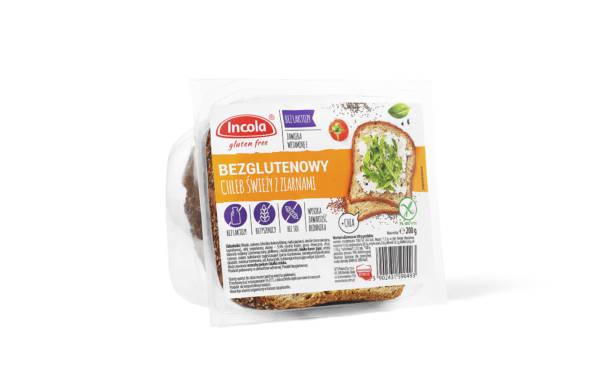 Bezglutenowy chleb świeży z ziarnami 200 g INCOLA