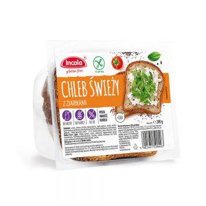 Bezglutenowy chleb świeży z ziarnami - INCOLA