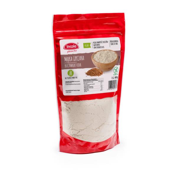Bezglutenowa mąka gryczana 400 g - INCOLA