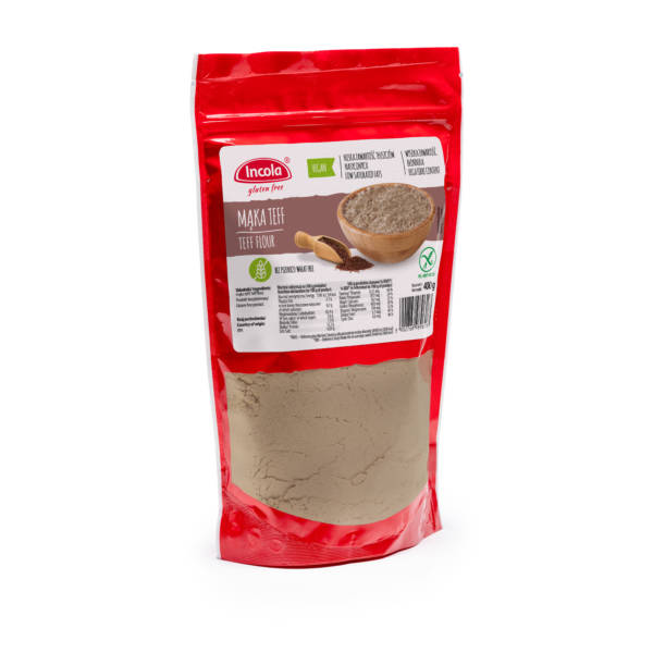 Bezglutenowa mąka teff 400 g - INCOLA