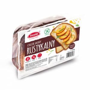 Bezglutenowy chleb rustykalny jasny 235 g INCOLA