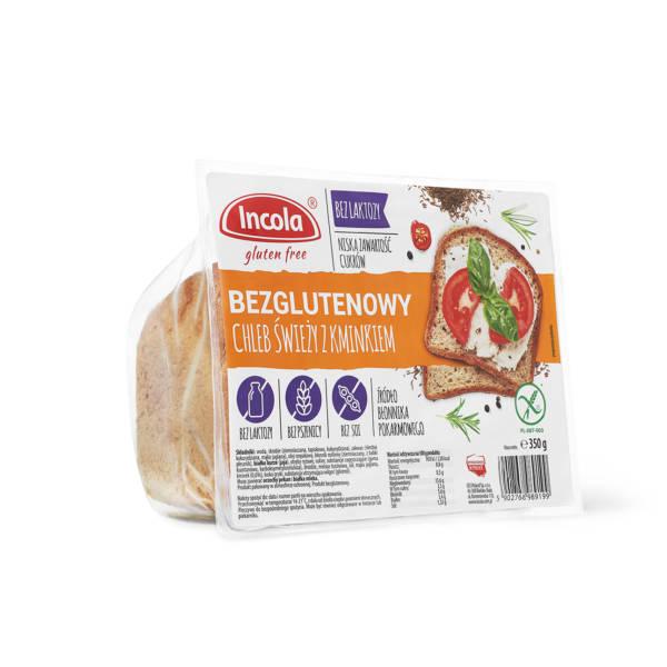 Bezglutenowy chleb świeży z kminkiem INCOLA