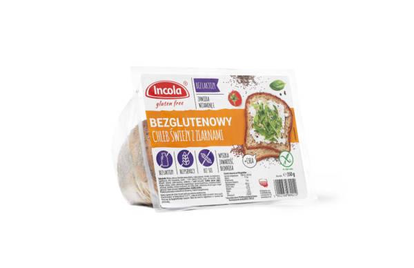 Bezglutenowy chleb świeży z ziarnami 350 g INCOLA