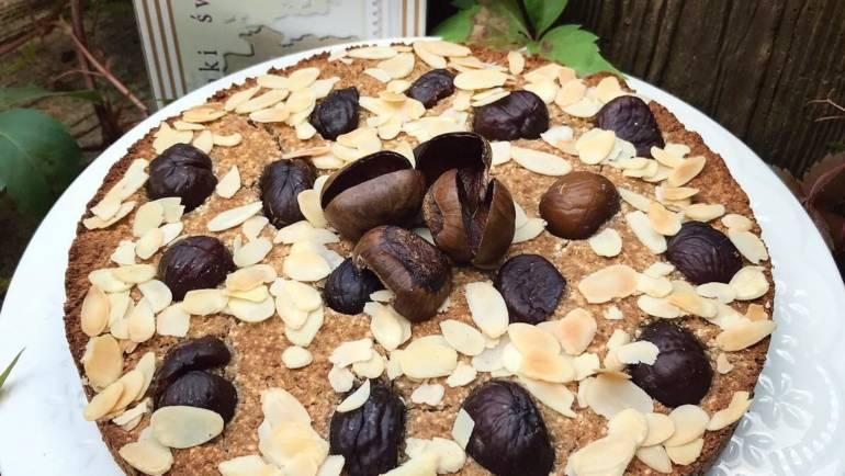 Bezglutenowe i bezlaktozowe ciasto kasztanowo-kokosowe