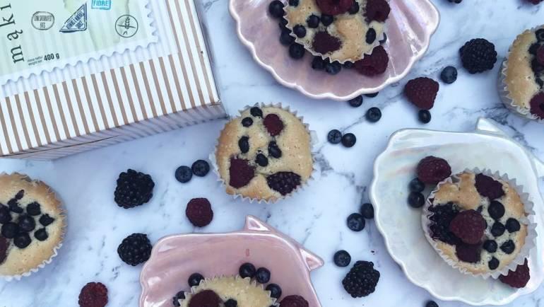 Bezglutenowe mini biszkopciki z owocami