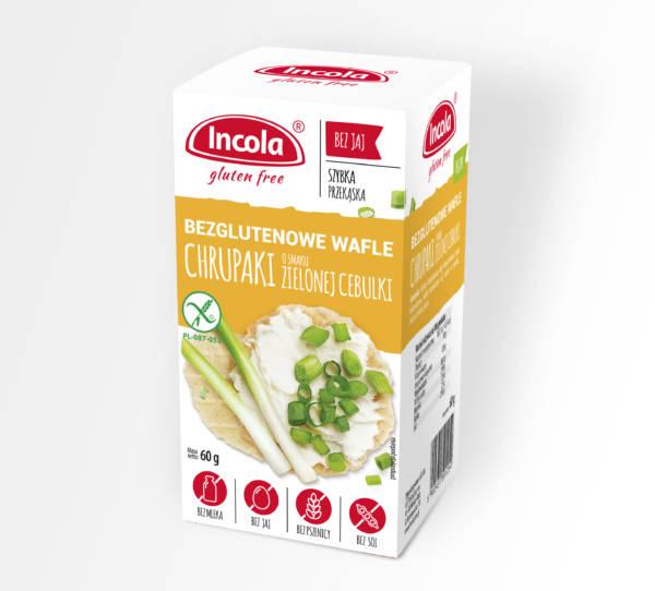 Bezglutenowe chrupaki o smaku zielonej cebulki INCOLA