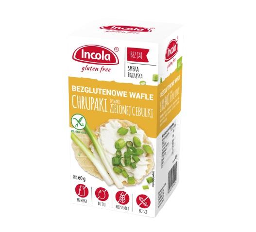 Bezglutenowe chrupaki o smaku zielonej cebulki - INCOLA