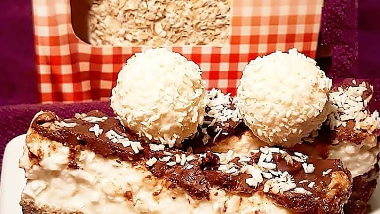 Fit czekoladowo-kokosowe ciasto a'la bounty