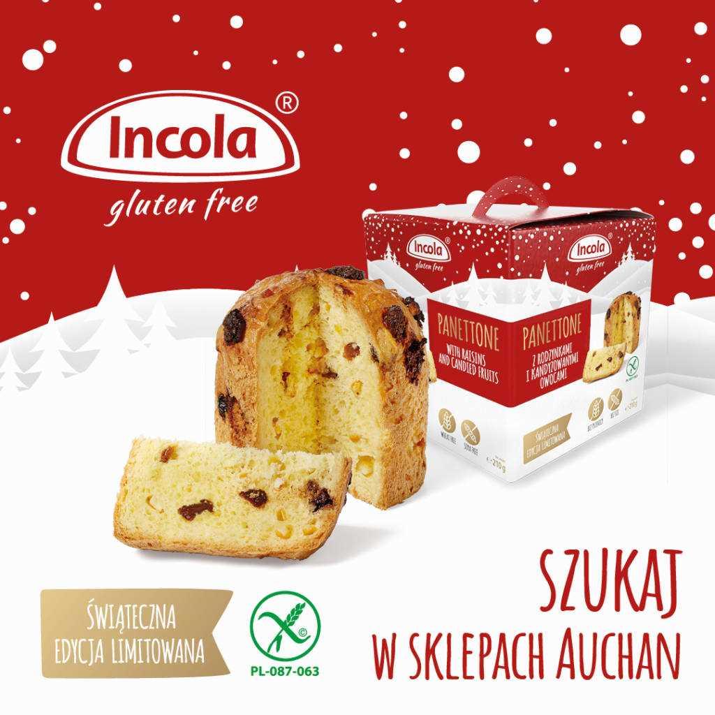 Bezglutenowe ciasto świąteczne Panettone - INCOLA