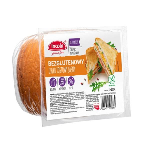 Bezglutenowy chleb tostowy jasny - INCOLA
