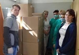Personel medyczny w szpitalu zakaźnym w Raciborzu