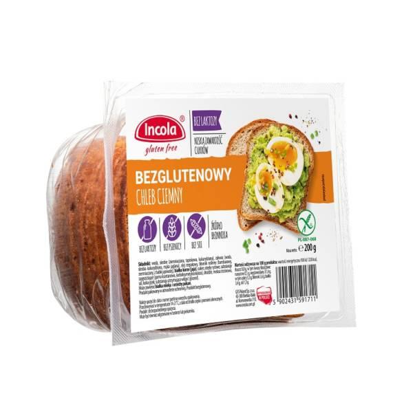 Bezglutenowy chleb ciemny 200g - INCOLA