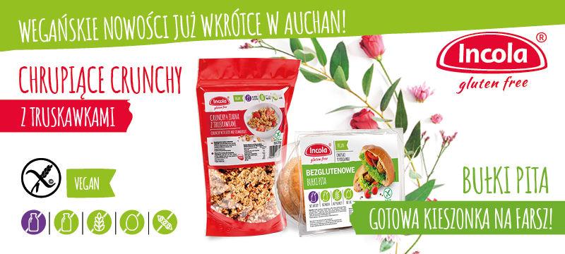 Wegańskie Nowości w Auchan - Incola Crunchy - bułka pita