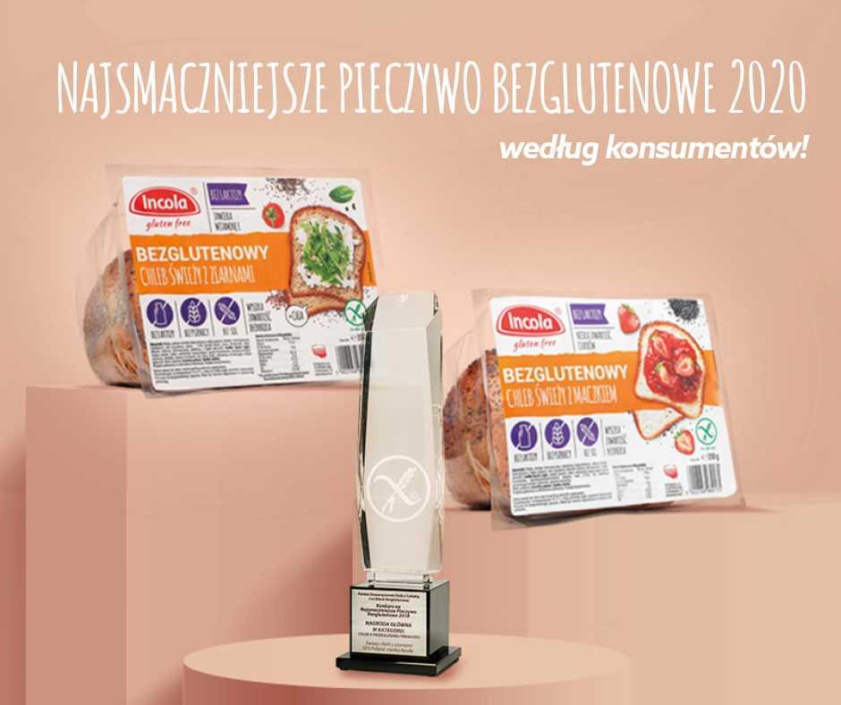 Bezglutenowe chleby Incola najsmaczniejsze według konsumentów!