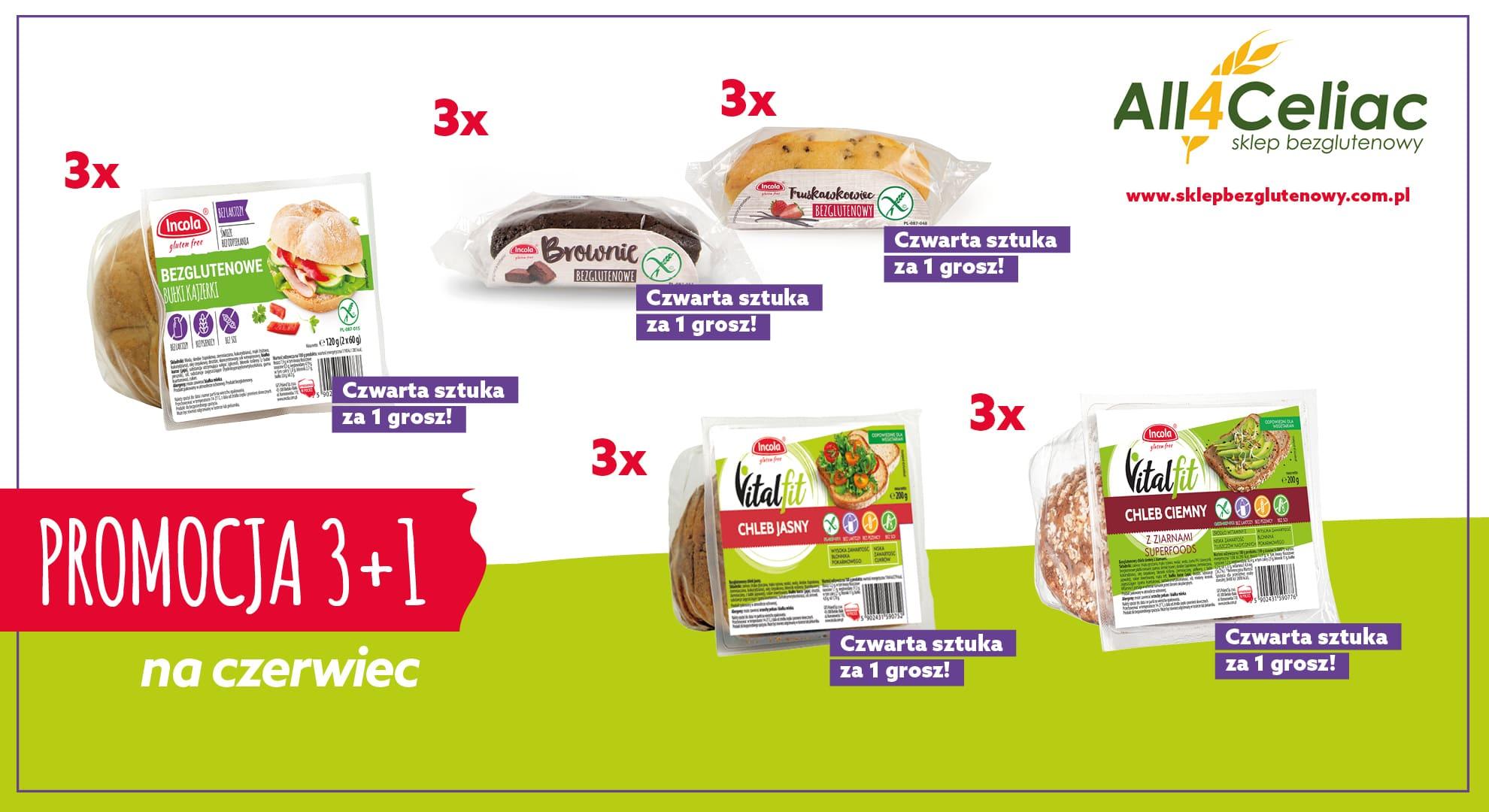 Promocja na bezglutenowe produkty Incola w All4celiac