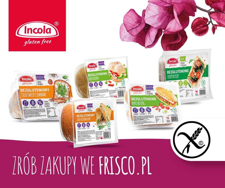 Bezglutenowe produkty Incola we frisco.pl