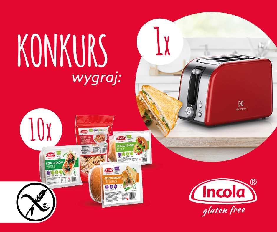Konkurs bezglutenowy chleb tostowy Incola