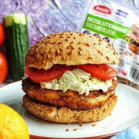 Bezglutenowy fit chicken burger