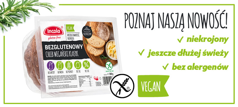 Chleb wegański bezglutenowy - Incola