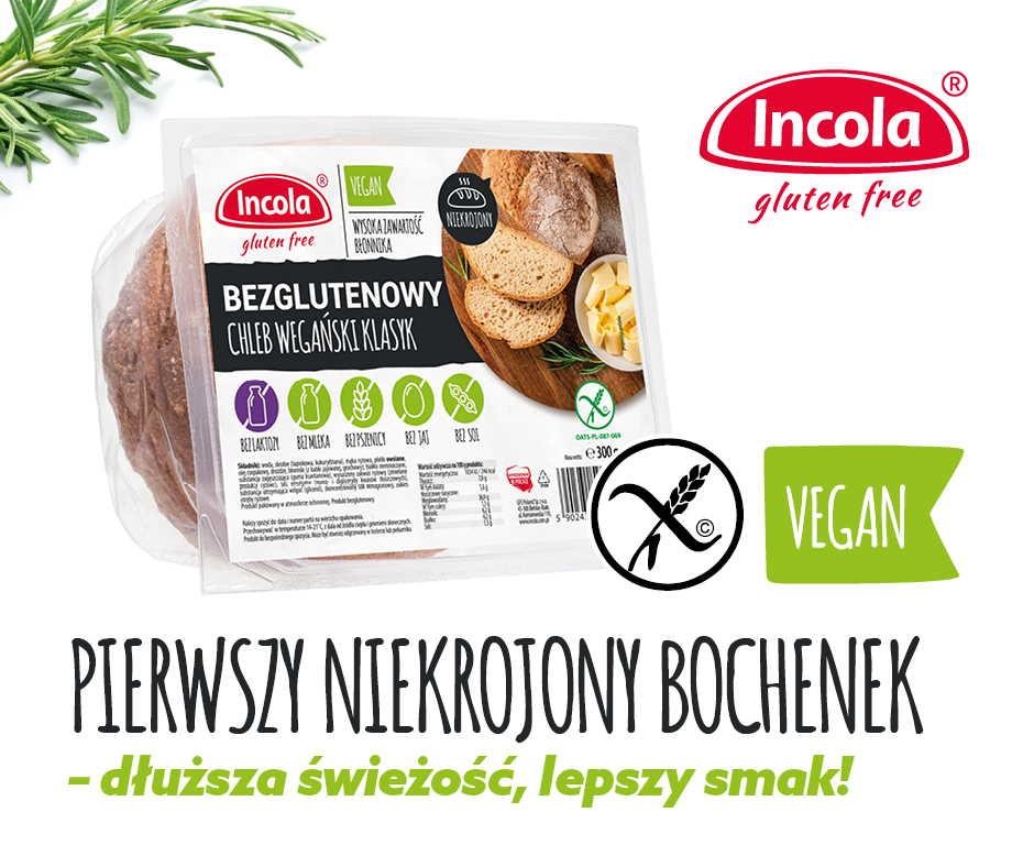 Chleb wegański – pierwszy niekrojony! Dłuższa świeżość, lepszy smak