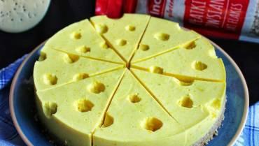 Glutenfreier zitronen-fit-schweizer-käsekuchen