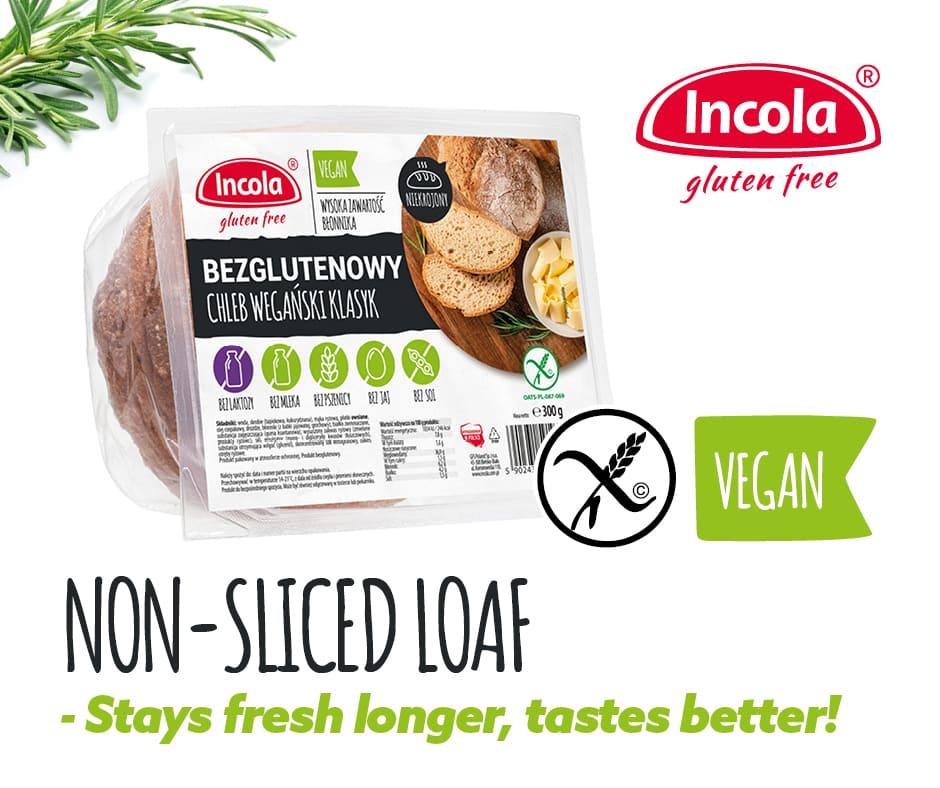 Gluten-free non-sliced loaf – stays fresh longer, tastes better!