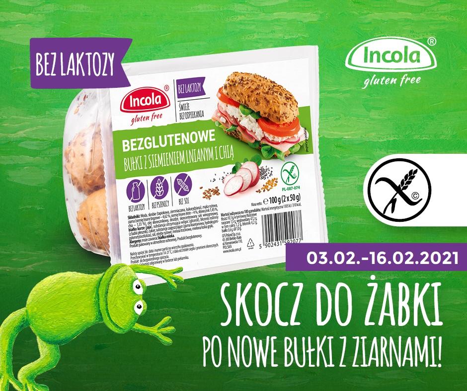 Nowe bezglutenowe bułki w sklepach Żabka 03-16.02.21 + KONKURS