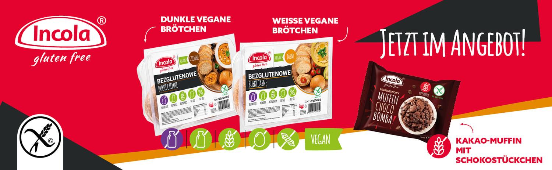 Dunkle/Weisse vegane brotchen Incola