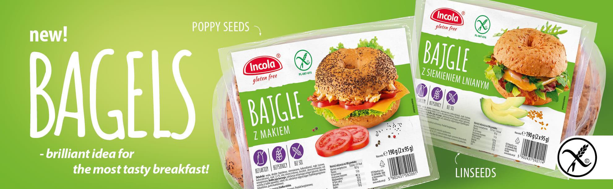 Incola gluten-free bagels