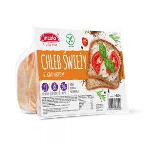 Bezglutenowy chleb z kminkiem 350 g - INCOLA