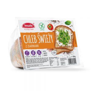 Bezglutenowy chleb świeży z ziarnami 350 g - INCOLA