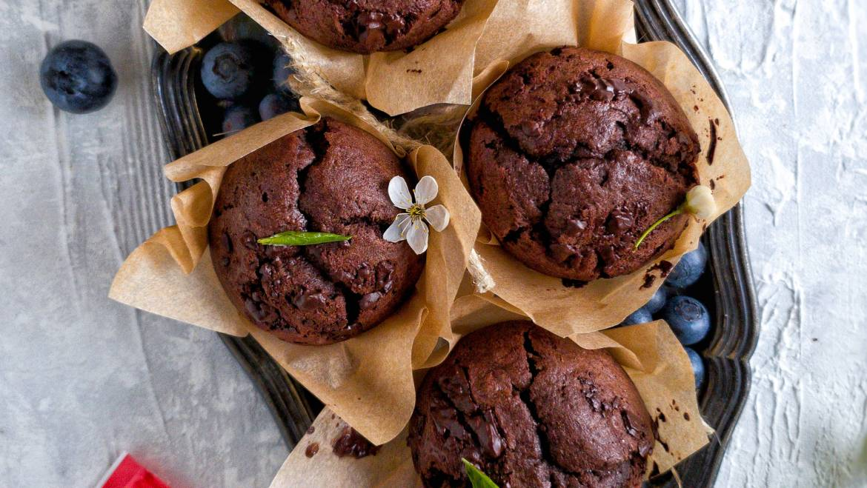 Bezglutenowe babeczki z czekoladą